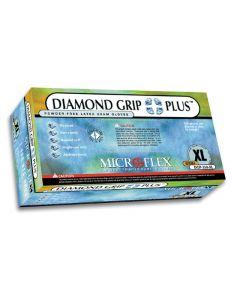 Diamond Grip Plus Powder-Free Latex Exam Gloves