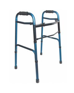 Adjustable Aluminum Walker - Blue