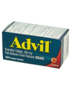 Advil - Coated Tablets - Box of 100