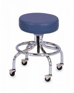 Chrome Base Adjustable Stool